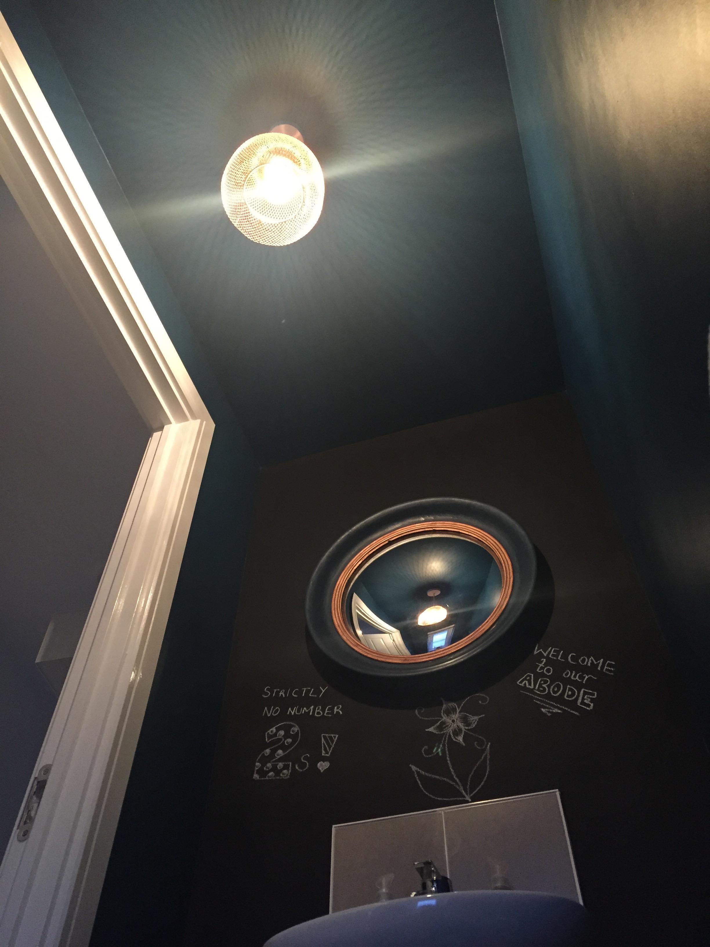 Chalk Board Wall in Bathroom