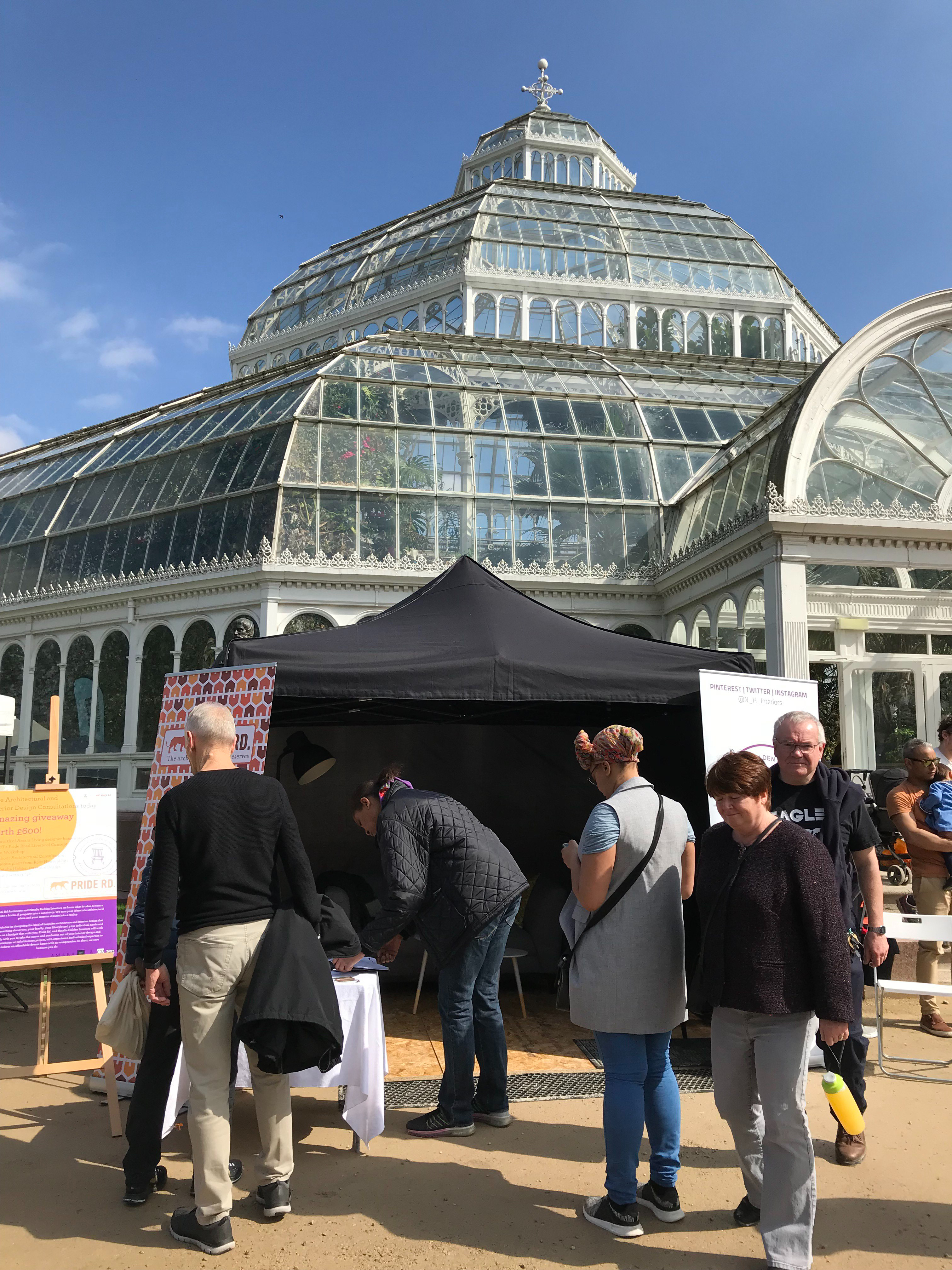 pop up in the palm house