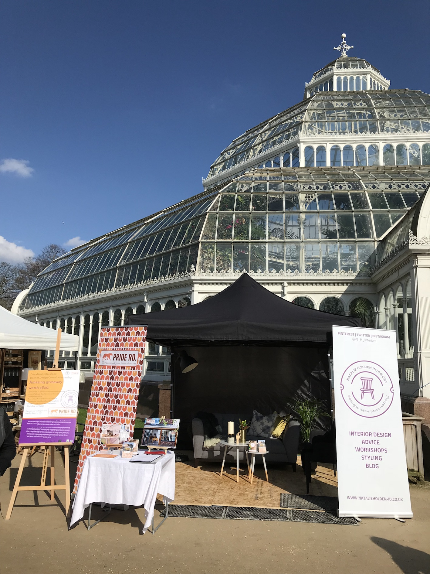 pop-up in the palm house