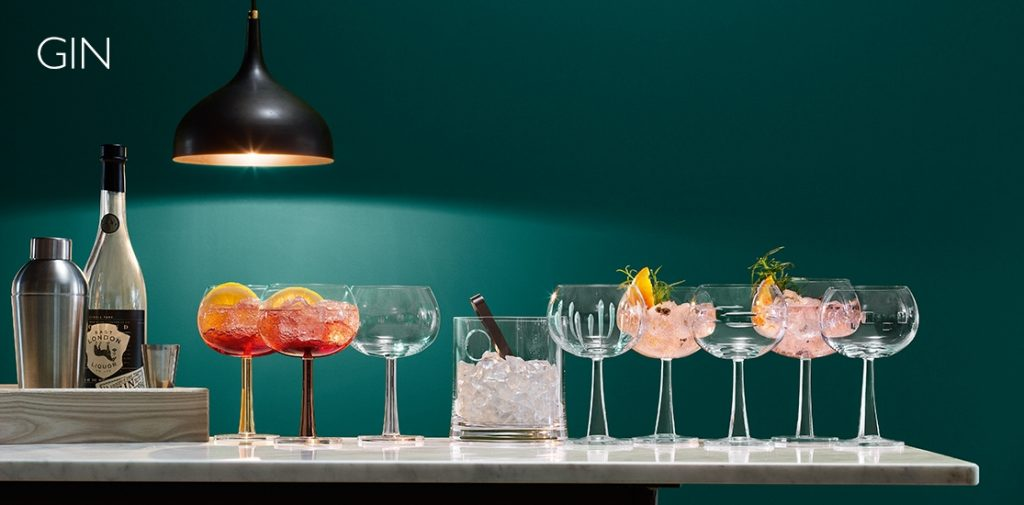 gin cocktail glasses, lsa international
