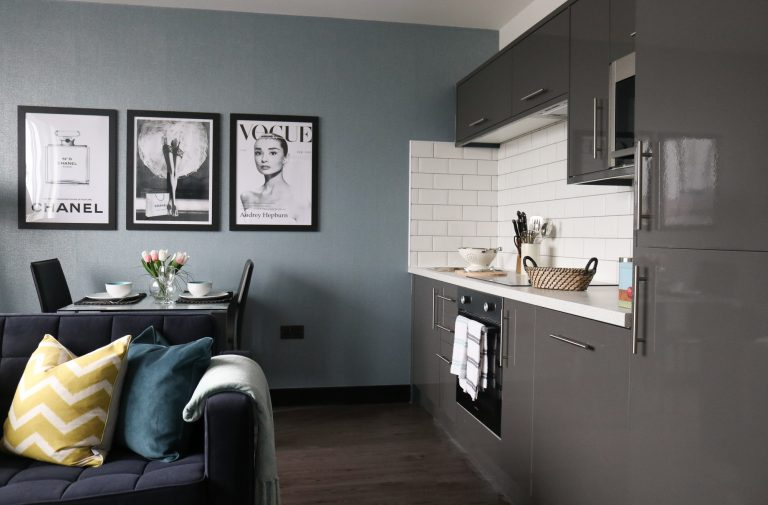 open plan apartment Liverpool, Liverpool interior designer, interior styling Liverpool