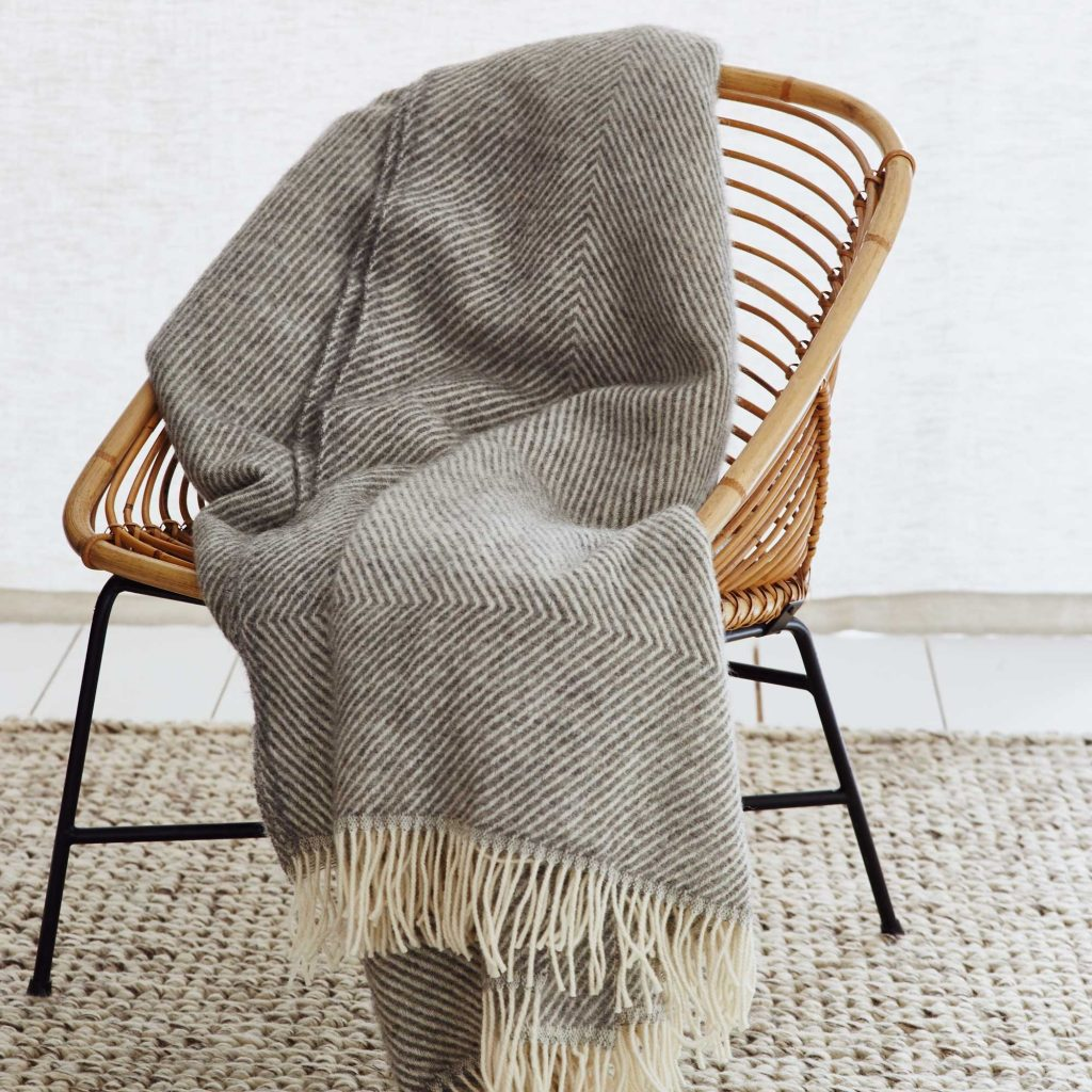 100% wool blanket, wool throw, natural homeware. sustainable homeware