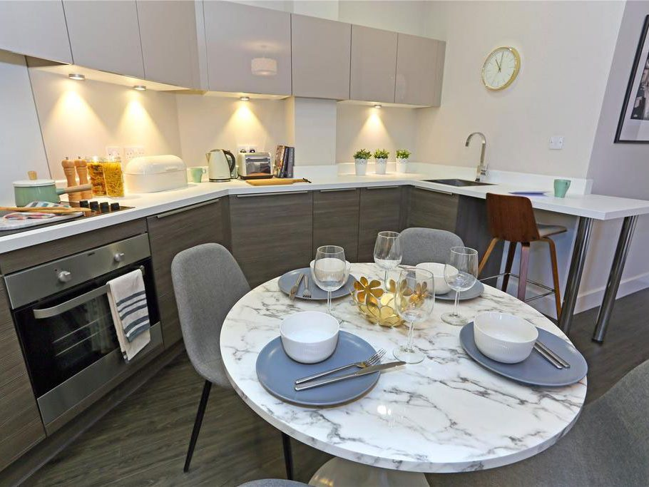 show home design, home staging, Natalie holden interiors, open plan apartment, Art Deco inspired apartment, marble dining table, modern apartment, Liverpool interior designer, Cheshire interior designer, Lancashire interior designer