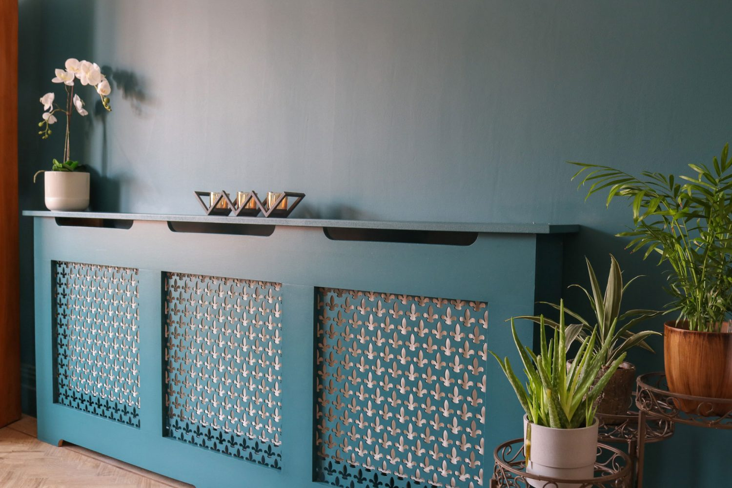 deep teal radiator cover
