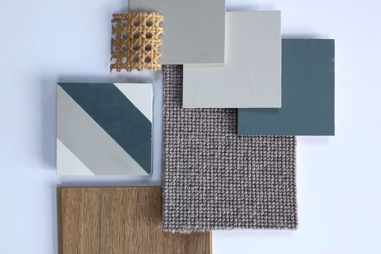 natalie holden interiors, mood board inspiration, cane webbing detail