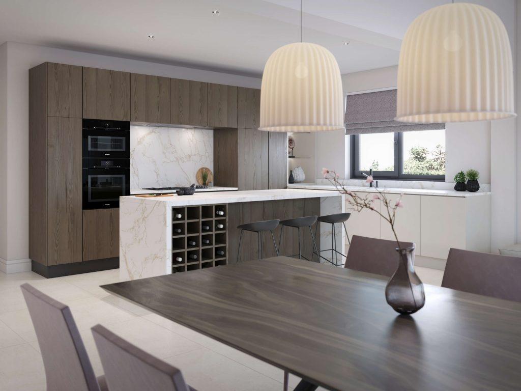 Natalie Holden Interiors, Open plan extension, walnut dining table