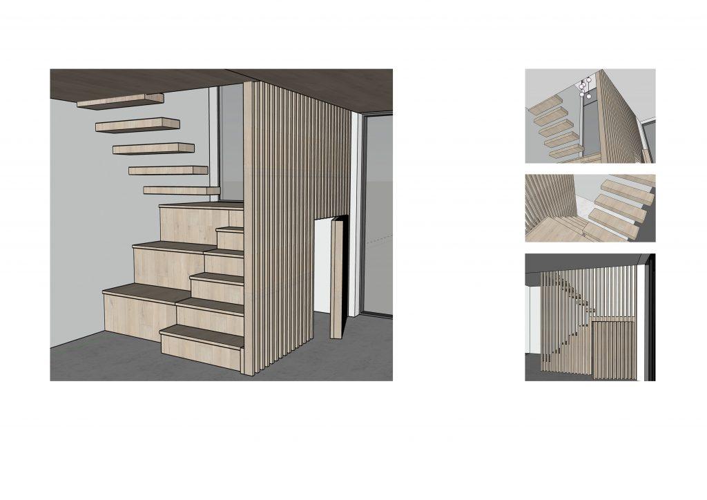 Bespoke hidden under stairs storage, designed by Natalie Holden Interiors