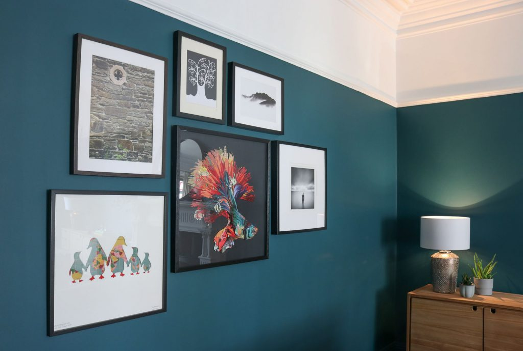Gallery wall designed by Natalie Holden Interiors