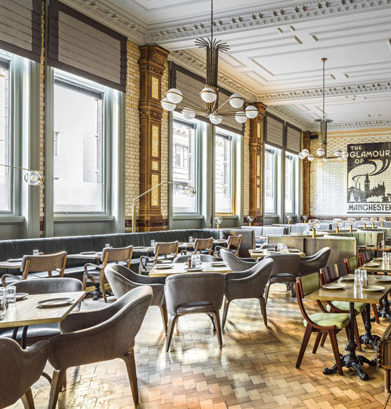 manchester bars, refuge by volta, manchester bars with interior design